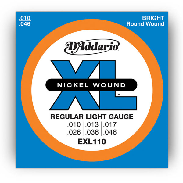 d 39 addario exl110 electric guitar strings light 10 46. Black Bedroom Furniture Sets. Home Design Ideas