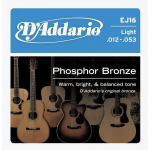 D'Addario EJ16 Phosphor Bronze Acoustic Guitar Strings 12-53