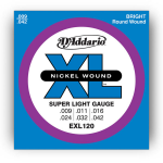 D'Addario EXL120 Electric Guitar Strings Super Light 9-42
