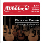 D'Addario EJ17 Phosphor Bronze Acoustic Guitar Strings Med 13-56