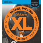 D'Addario EXL160-5 Electric Bass 5 String set Medium Wound  50-135 - 1 Set