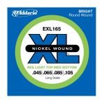 D'Addario EXL165 Electric Bass Strings Medium Wound  45-105 -  1 Set
